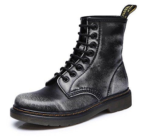 Modemoven-Womens-Round-Toe-Lase-up-Ankle-Boots-Ladies-Leather-Combat-Booties-Fashion-Martens-Boots-Black-Gray-US55-0