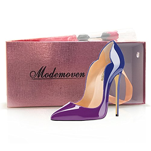 Modemoven-Womens-Sexy-Point-Toe-High-HeelsPatent-Leather-PumpsWedding-Dress-ShoesCute-Evening-Stilettos-Purple-85-M-US-0-5