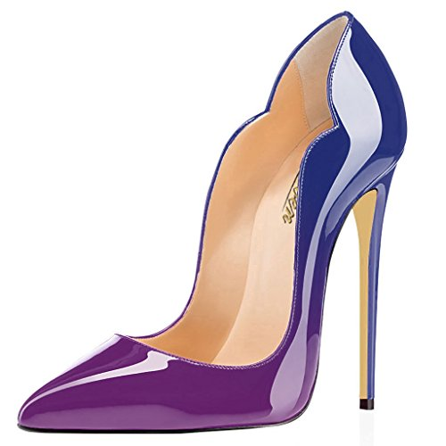 Modemoven-Womens-Sexy-Point-Toe-High-HeelsPatent-Leather-PumpsWedding-Dress-ShoesCute-Evening-Stilettos-Purple-85-M-US-0