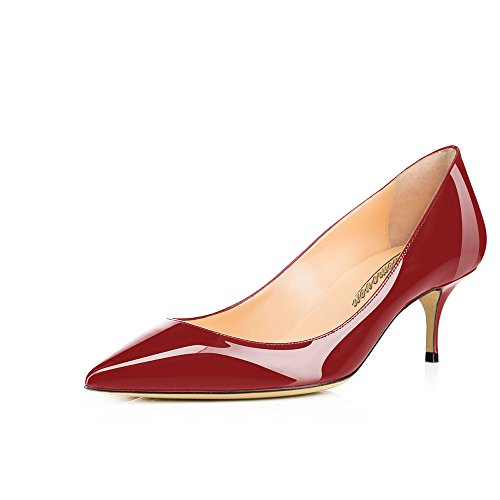 Modemoven-Womens-Wine-Red-Patent-Leather-Pointed-Toe-Kitten-Heels-Gorgeous-Pumps-Evening-Stiletto-Shoes-55CM-85-M-US-0
