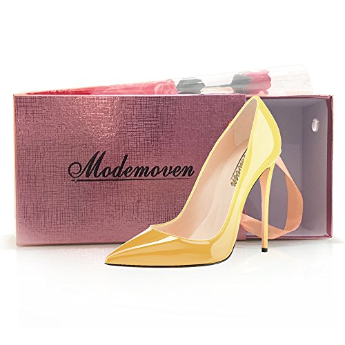 Modemoven-Womens-Yellow-Pointy-Toe-High-Heels-Slip-On-Stilettos-Large-Size-Wedding-Party-Evening-Pumps-Shoes-7-M-US-0-5