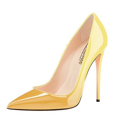 Modemoven-Womens-Yellow-Pointy-Toe-High-Heels-Slip-On-Stilettos-Large-Size-Wedding-Party-Evening-Pumps-Shoes-7-M-US-0