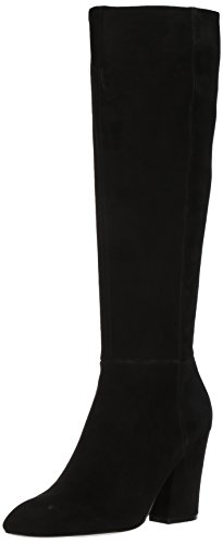 Nine-West-Womens-Shearling-Suede-Knee-High-Boot-Black-Suede-95-Medium-US-0