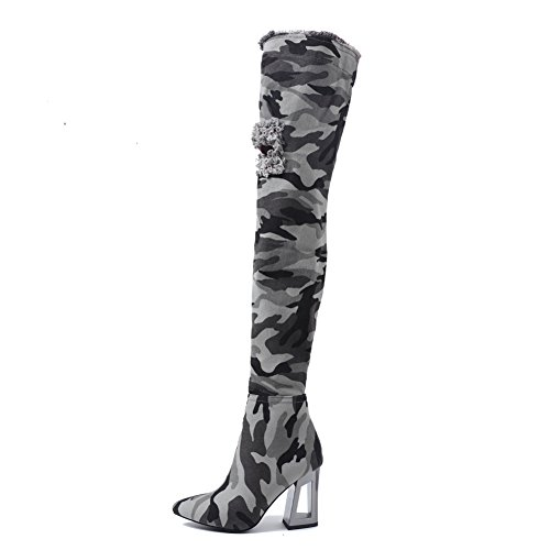 Onlymaker-Camouflage-Pattern-Denim-Meatal-Heel-Overknee-Thigh-High-Army-Boots-for-Women-Light-green-95-M-US-0-0