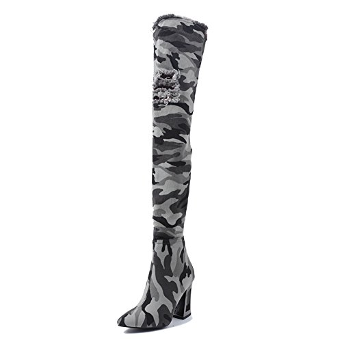 Onlymaker-Camouflage-Pattern-Denim-Meatal-Heel-Overknee-Thigh-High-Army-Boots-for-Women-Light-green-95-M-US-0-1