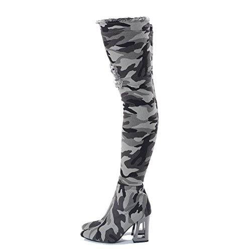 Onlymaker-Camouflage-Pattern-Denim-Meatal-Heel-Overknee-Thigh-High-Army-Boots-for-Women-Light-green-95-M-US-0-3