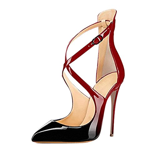 Onlymaker-Ladies-Fashion-Pointed-Toe-High-Slim-Heels-Criss-Cross-Stiletto-Pumps-for-Wedding-Party-Dress-Red-and-Black-12-M-US-0