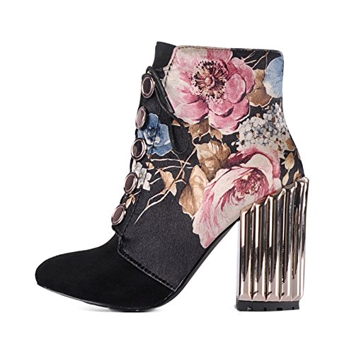 Onlymaker-Metal-Block-Heel-and-Flowers-Printed-Fabric-Lace-up-Fashion-Boot-Black-95-M-US-0-2