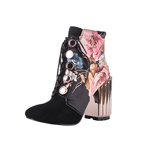 Onlymaker-Metal-Block-Heel-and-Flowers-Printed-Fabric-Lace-up-Fashion-Boot-Black-95-M-US-0