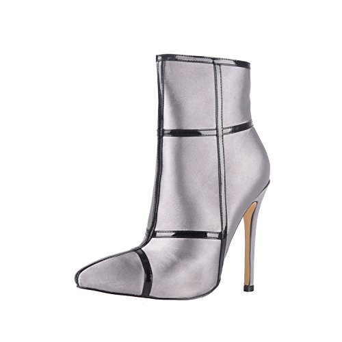 Onlymaker-Pointed-Toe-Satin-Ankle-Boot-High-Heel-Stiletto-Grey-10-M-US-0