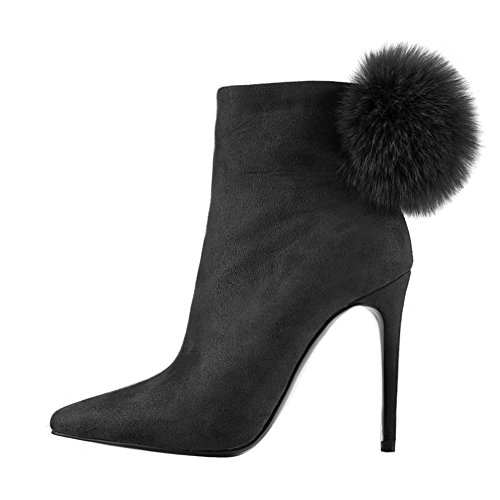 Onlymaker-Winter-Shoes-Suede-Ankle-Booties-With-Bottle-Pom-Poms-Black-13-M-US-0