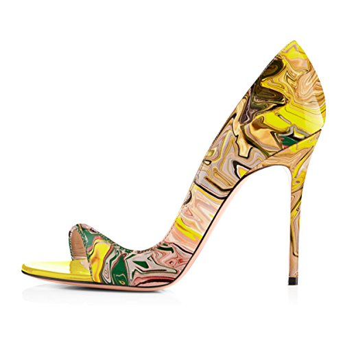 Onlymaker-Women-Fashion-Peep-Toe-Heeled-Sandals-Slip-On-High-Heels-Pumps-For-Party-Dress-Multicolor-Printing-95-M-US-0