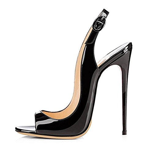 Onlymaker-Women-Peep-Toe-Heeled-Sandals-Slingback-High-Heel-Stiletto-Pumps-for-Party-Dress-black-10-M-US-0