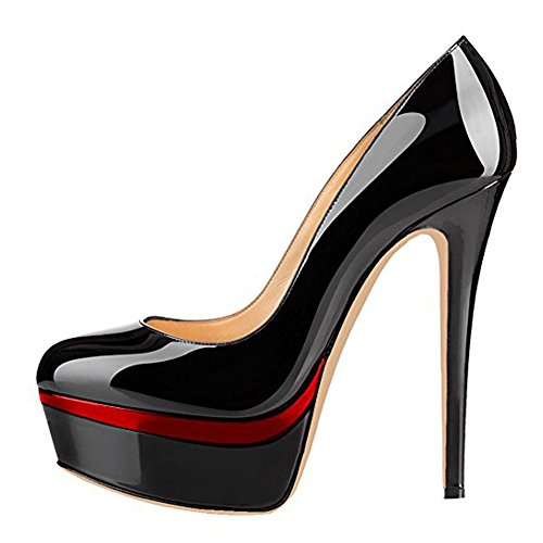 Onlymaker-Womens-Fashion-Super-High-Heel-Slip-On-Stiletto-Pump-Platform-Closed-Toe-Wedding-Party-Shoes-Black-Red-14-M-US-0