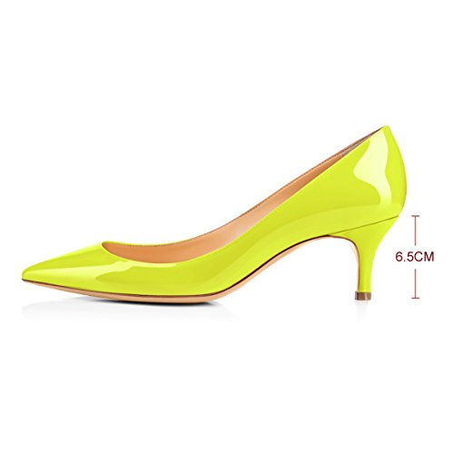 Onlymaker-Womens-Kitten-Heel-Sandals-Pointed-Toe-Large-Size-Dress-Party-Wedding-Office-Pumps-Shoes-Yellow-US-13-0-0