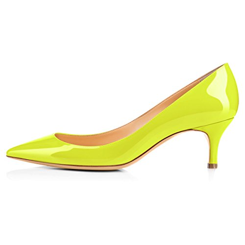 Onlymaker-Womens-Kitten-Heel-Sandals-Pointed-Toe-Large-Size-Dress-Party-Wedding-Office-Pumps-Shoes-Yellow-US-13-0