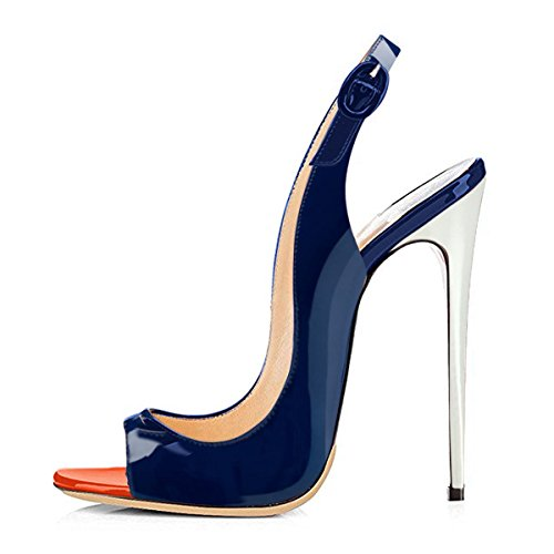 Onlymaker-Womens-Peep-Toe-Slingback-High-Heel-Pumps-Stilettos-Sandals-blue-9-M-US-0