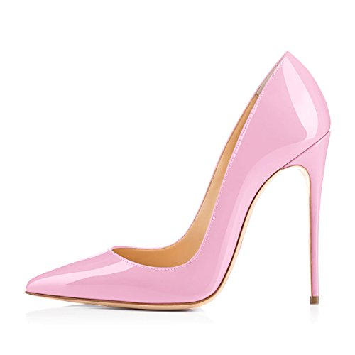 Onlymaker-Womens-Sexy-Pointed-Toe-High-Heel-Slip-On-Stiletto-Pumps-Large-Size-Basic-Shoes-Pink-9-M-US-0