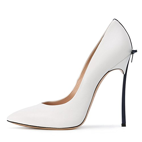 Onlymaker-Womens-Sexy-Pointed-Toe-High-Heels-Stiletto-With-Bowknot-Pumps-Shoes-White-black-heel-5-M-US-0-0