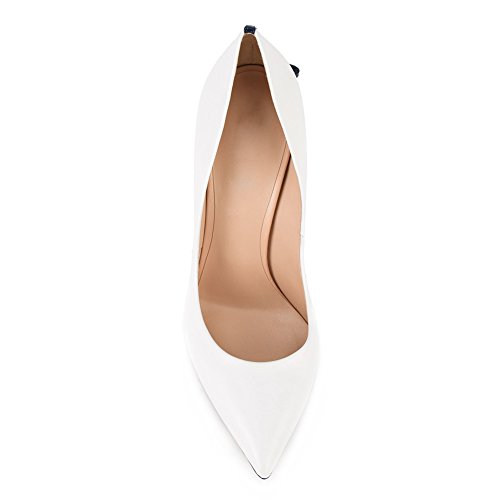 Onlymaker-Womens-Sexy-Pointed-Toe-High-Heels-Stiletto-With-Bowknot-Pumps-Shoes-White-black-heel-5-M-US-0-1