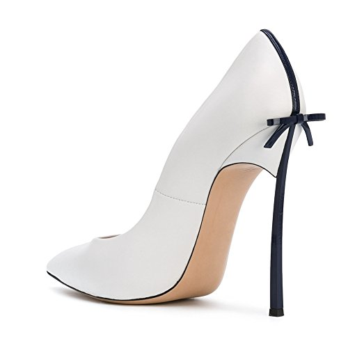 Onlymaker-Womens-Sexy-Pointed-Toe-High-Heels-Stiletto-With-Bowknot-Pumps-Shoes-White-black-heel-5-M-US-0-2