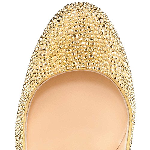 Onlymaker-Womens-Sexy-Rivets-High-Heel-Round-Toe-Slip-On-Stiletto-Pumps-Shoes-Gold-6-M-US-0-1
