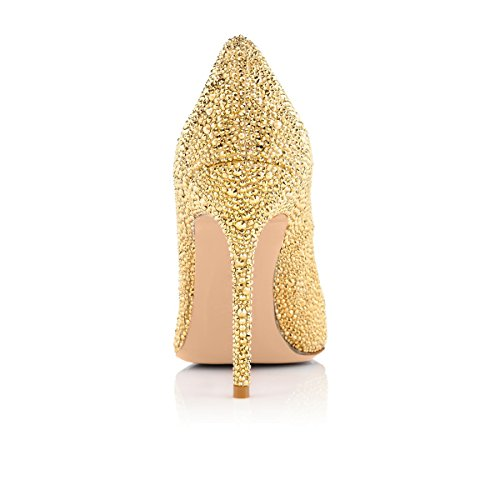 Onlymaker-Womens-Sexy-Rivets-High-Heel-Round-Toe-Slip-On-Stiletto-Pumps-Shoes-Gold-6-M-US-0-2