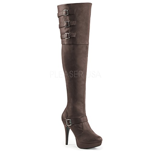 Pleaser-Pink-Label-Womens-Chloe308Bnpu-Boot-Brown-Faux-Leather-13-M-US-0