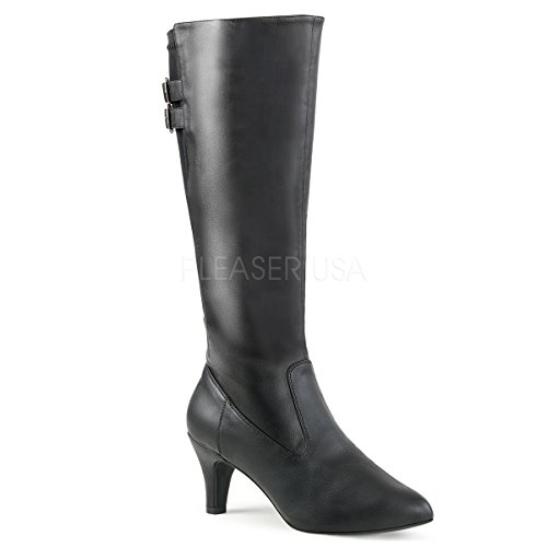 Pleaser-Pink-Label-Womens-Div2018Bpu-Boot-Black-Faux-Leather-13-M-US-0