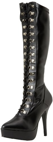 Pleaser-Womens-Indulge-2024-Knee-High-BootBlack-Polyurethane13-M-US-0