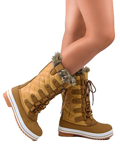 RF-ROOM-OF-FASHION-Frozen-03-Snow-Boots-Tan-PU-Size-13-0