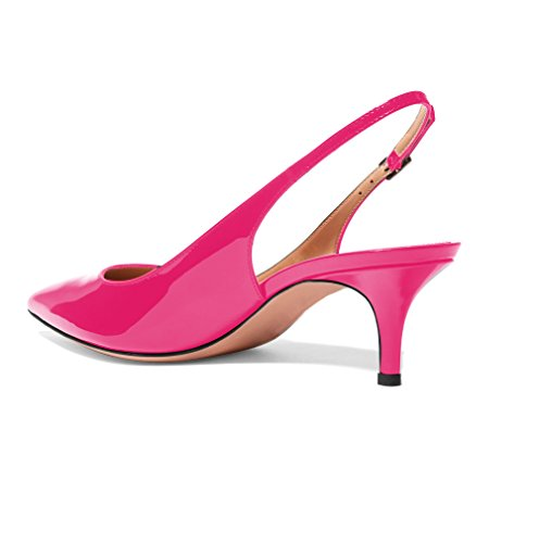 Soireelady-Womens-Suede-Pointed-Toe-Slingback-Pumps-Ankle-Strap-Kitten-Heels-Pumps-Evening-Stiletto-Shoes-65cm-Rose-US75-0-0
