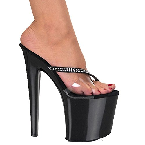 ZriEy-Women-20CM-High-Heels-Platform-Sandals-Platforms-Pole-Dance-Shoes-Black-size-10-0