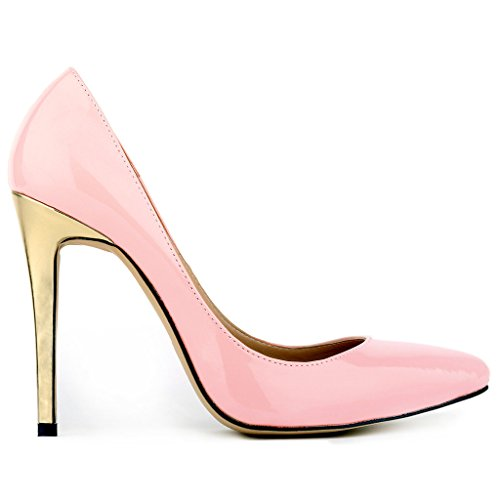 ZriEy-Women-Sexy-Shoes-Gold-Heel-Closed-Pointed-Toe-Stiletto-High-Heels-for-Party-Wedding-Dress-Pumps-Pink-size-6EU-36-0