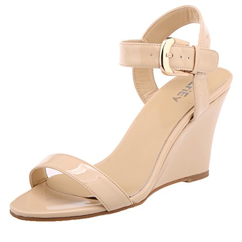 ZriEy-Womens-Classic-Sexy-Comfort-wedge-Mid-Heel-Sandals-for-Halloween-Christmas-Party-Evening-Nude-size-6-0