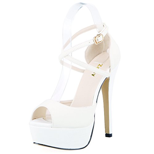 ZriEy-Womens-Peep-Toe-Strappy-Platform-Stiletto-Ladies-High-Heel-Sandal-Shoes-White-Size-75M-0