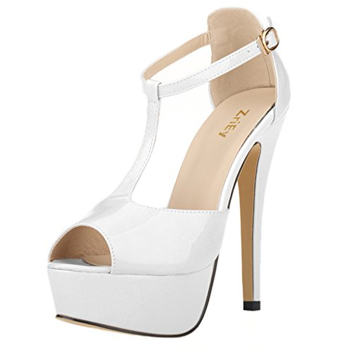 ZriEy-Womens-Sexy-Peep-Toe-High-Heel-T-Strap-Platform-Sandals-Leather-Patent-White-size-75-0