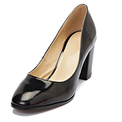 ZriEy-womens-Pointed-Toe-Chunky-heel-Pumps-for-Work-Dress-Party-Black-size-75-0