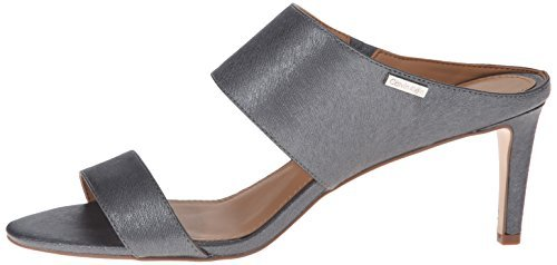 Calvin-Klein-Womens-Cecily-Leather-Open-Toe-Casual-Slide-Pewter-Size-110-0