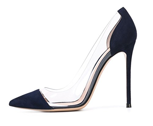 Guoar-Womens-Multicolor-Big-Size-Pointed-Toe-Stiletto-transparency-Stitching-High-Heels-Pumps-Shoes-0