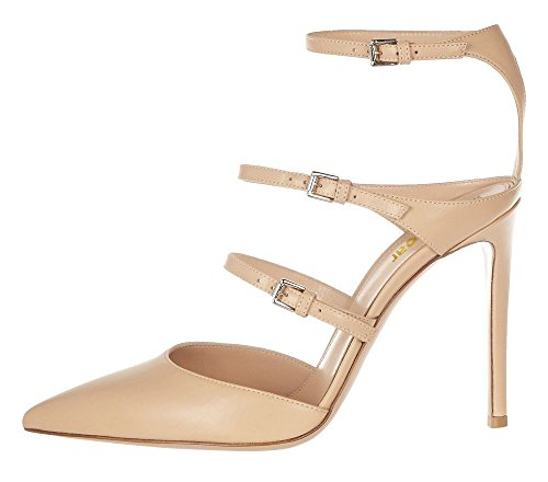 Guoar-Womens-Pointed-Toe-Stiletto-Heels-Ankle-Strap-Strappy-Sandals-Pumps-Shoes-For-Party-Dress-Nude-PU-US-8-0