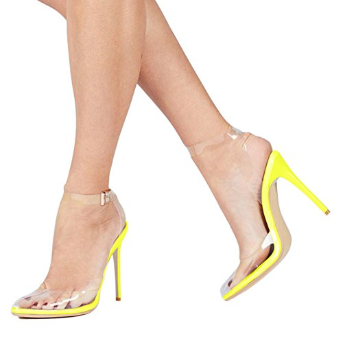 UMEXI-Womens-Strappy-Lucite-Clear-Stiletto-High-Pointy-Toe-Slingback-Sandal-Shoe-Pumps-Yellow-Size-11-0