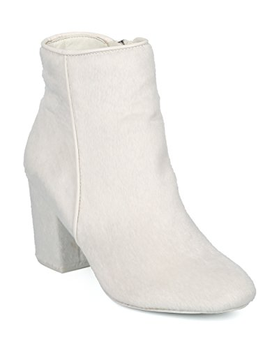 Alrisco-Women-Round-Toe-Block-Heel-Bootie-Versatile-Dressy-Trendy-Chunky-Heel-Ankle-Boot-HE96-by-mackin-J-Collection-White-Faux-Fur-Size-11-0