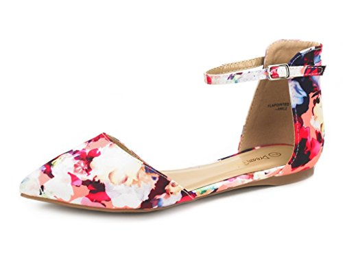 DREAM-PAIRS-FLAPOINTED-ANKLE-Womens-Casual-Dorsay-Pointed-Plain-Ballet-Comfort-Soft-Slip-On-Flats-Shoes-New-Floral-SIZE-6-0