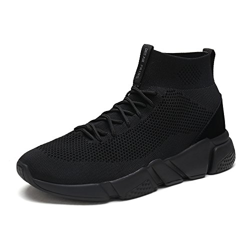 DREAM-PAIRS-Mens-170845M-All-Black-Lightweight-Breathable-Fashion-Sneakers-Sport-Walking-Shoes-12-DM-US-0