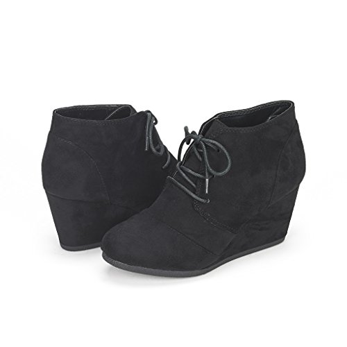 DREAM-PAIRS-TOMSON-Womens-Casual-Fashion-Outdoor-Lace-Up-Low-Wedge-Heel-Booties-Shoes-black-75-BM-US-0