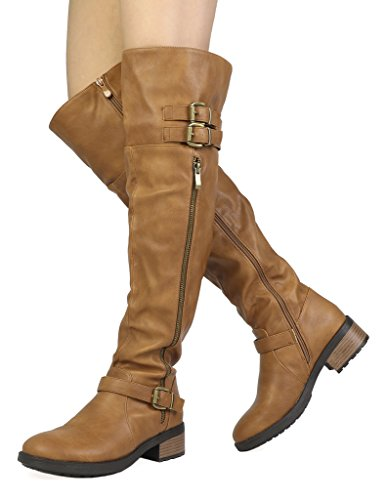 DREAM-PAIRS-Womens-Argentina-Camel-pu-Over-The-Knee-Riding-Boots-Size-85-M-US-0