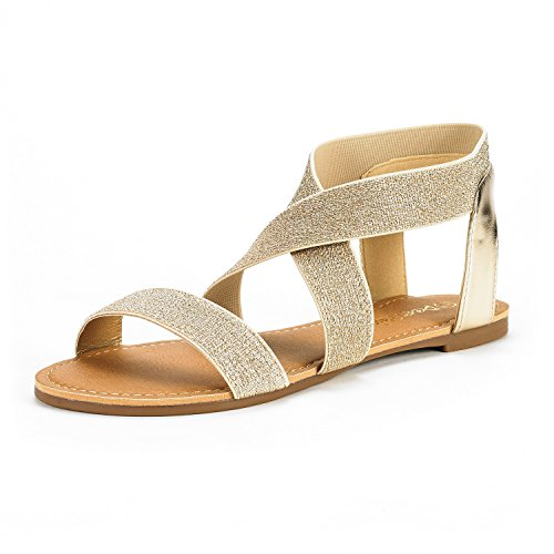 DREAM-PAIRS-Womens-ELATICA-6-Gold-PU-Elastic-Ankle-Strap-Flat-Sandals-10-M-US-0