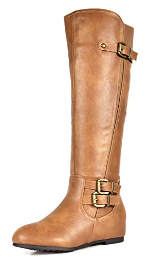 DREAM-PAIRS-Womens-Franca-Camel-Knee-High-Hidden-Wedges-Winter-Riding-Boots-Size-10-M-US-0