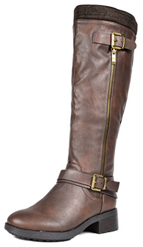 DREAM-PAIRS-Womens-Turtle-Brown-Knee-High-Motorcycle-Riding-Winter-Boots-Wide-Calf-Size-85-M-US-0